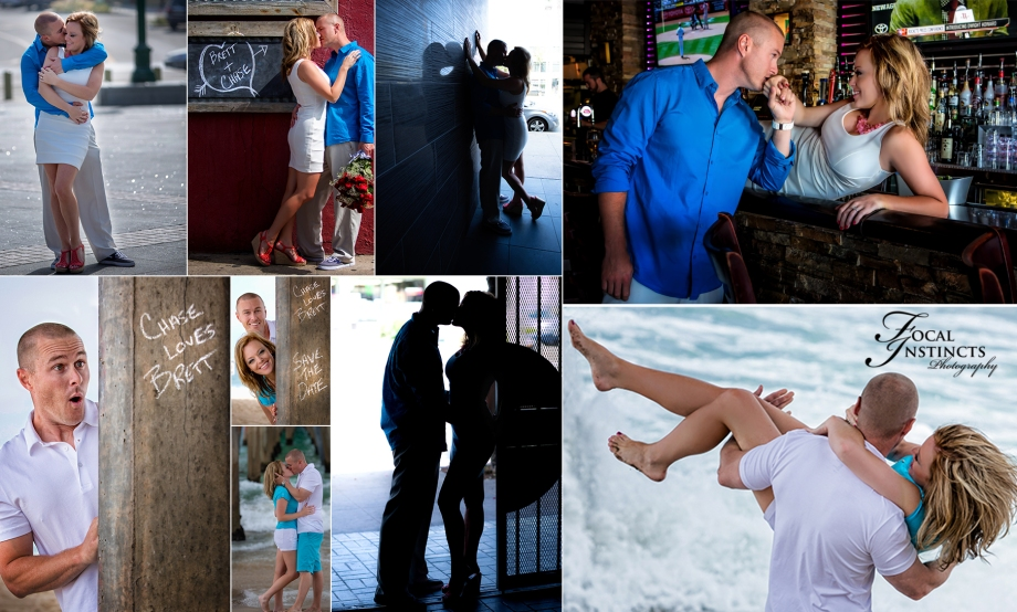 Engagement session in Hermosa Beach, CA